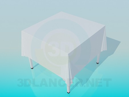 3d model Table with tablecloth - preview