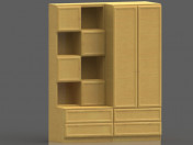 Cabinet and shelving