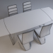 3d Set_LONDON (LONDON) transparent table with chairs Signal H-669 black model buy - render