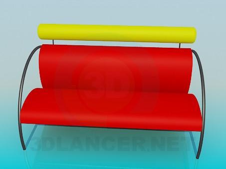 3d модель Удобная скамья – превью