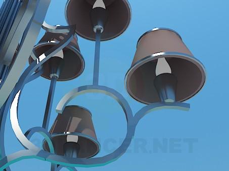 3d модель Люстра с плафонами в 2 уровня – превью