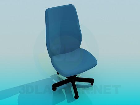 3d модель Офисный стул на колесиках – превью