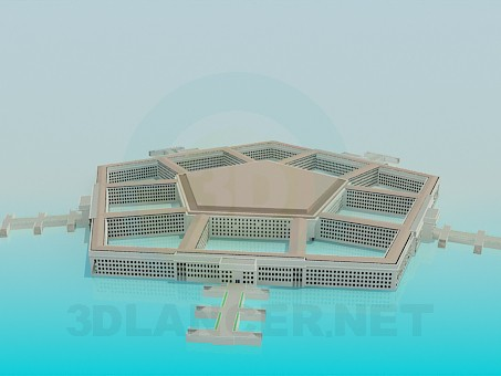3d modeling pentagon model free download