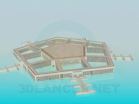 3d модель Пентагон – превью