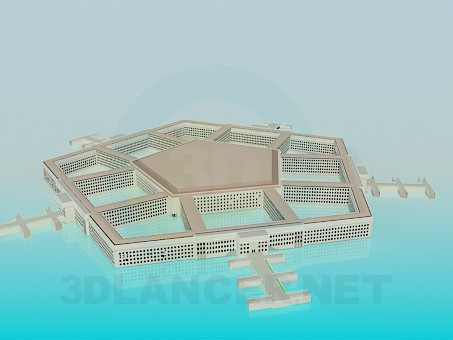 3d model pentagon - preview
