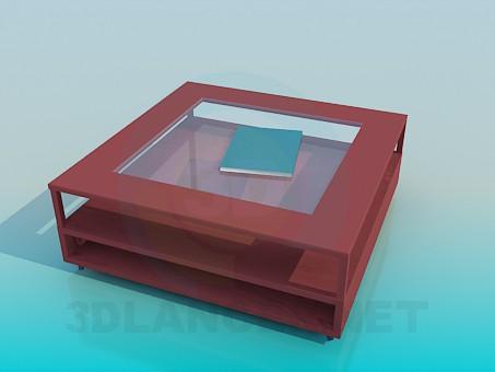 3d модель Журнальный стол с полочками – превью