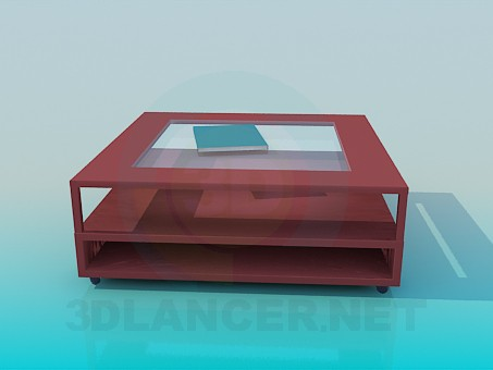 3d model Coffee table with shelves - preview