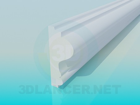 3d model Ceiling Molding High Poly - preview