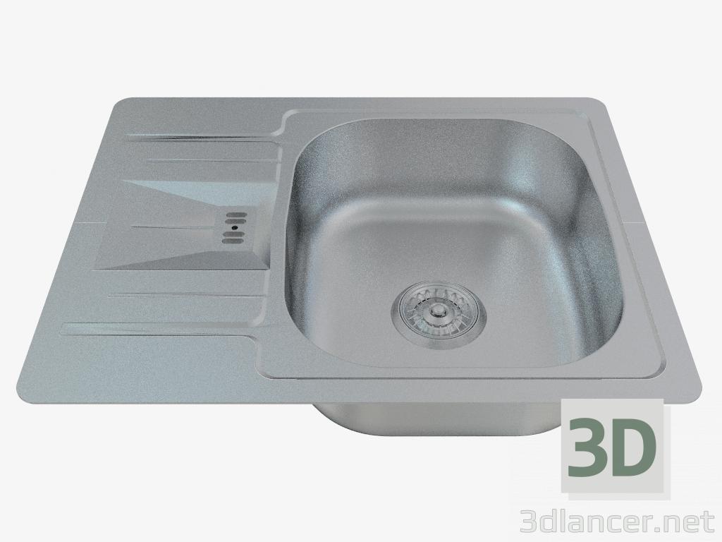 3d модель Мойка кухонная стальная Solo (ZHS-0113 45288) – превью