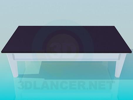 3d модель Столик прямоугольный – превью