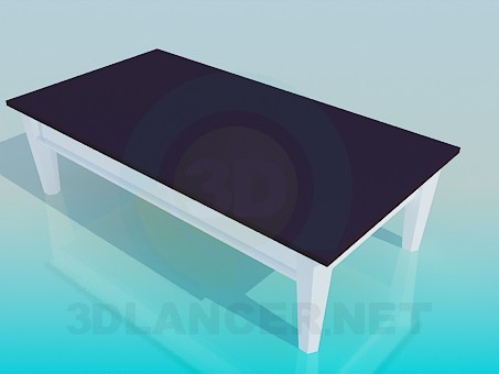 3d model Rectangular table - preview
