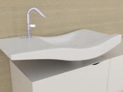 Washbasin with fixtures