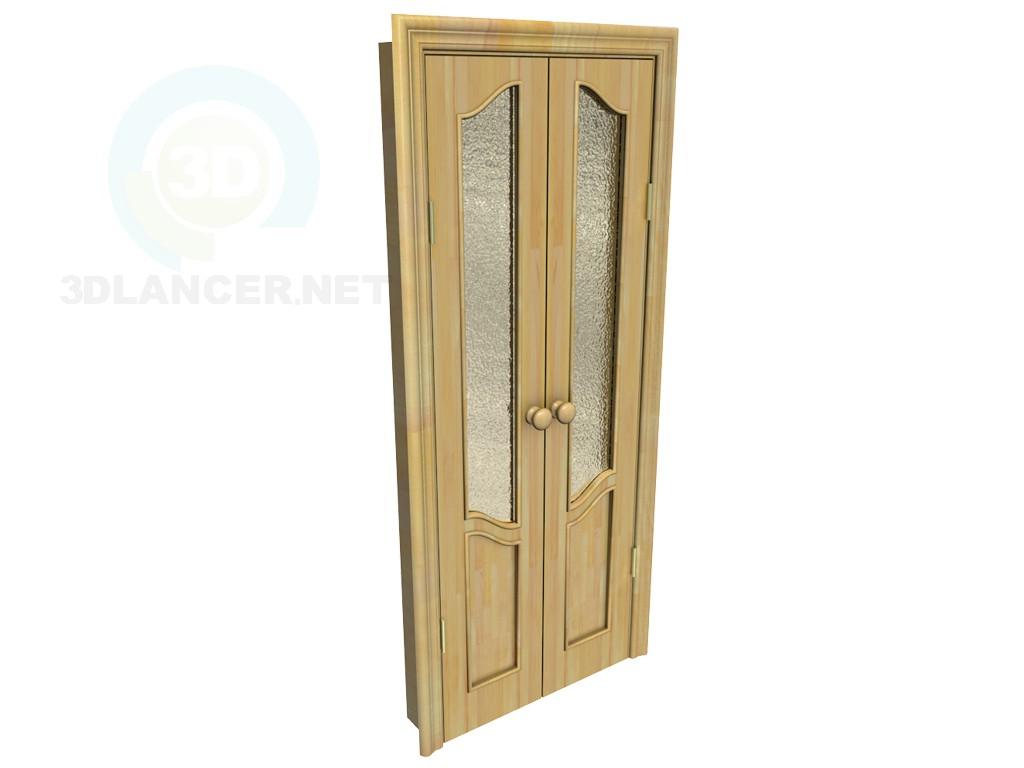 3d модель Двостулкові міжкімнатні двері – превью
