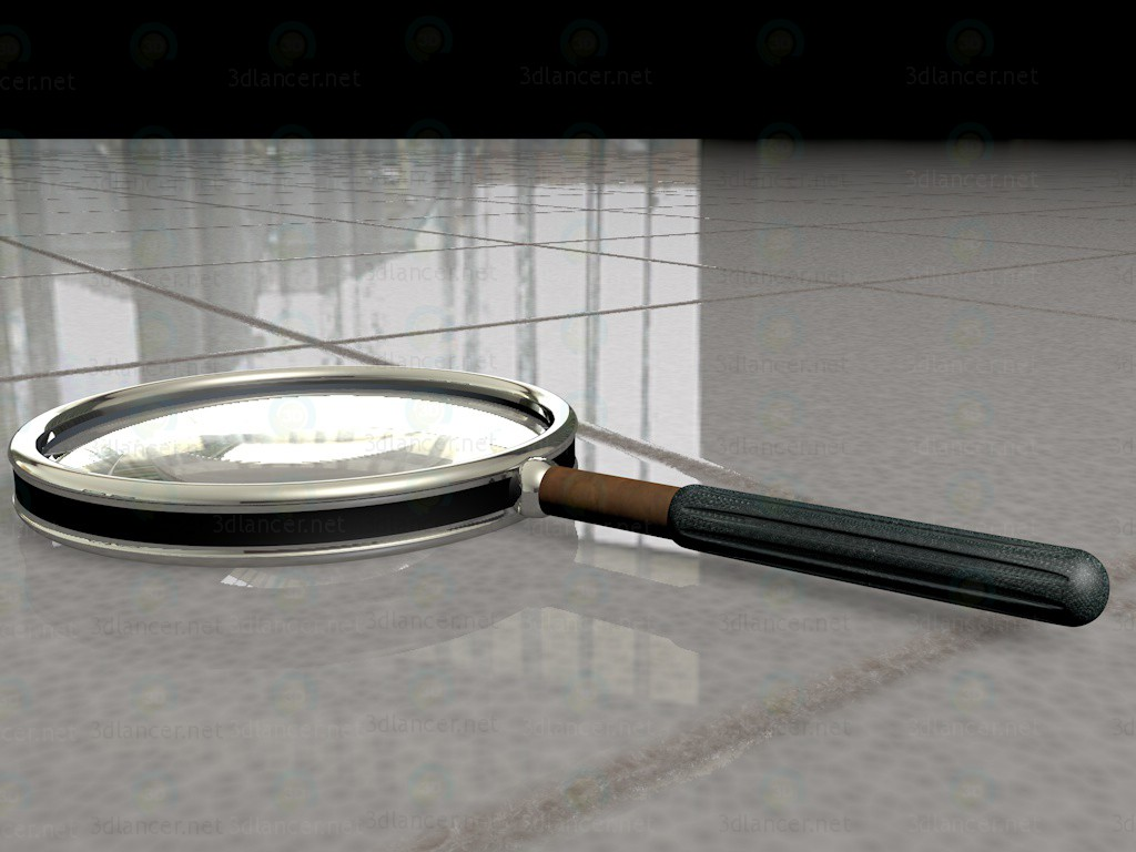 3d model Magnifying glass - preview