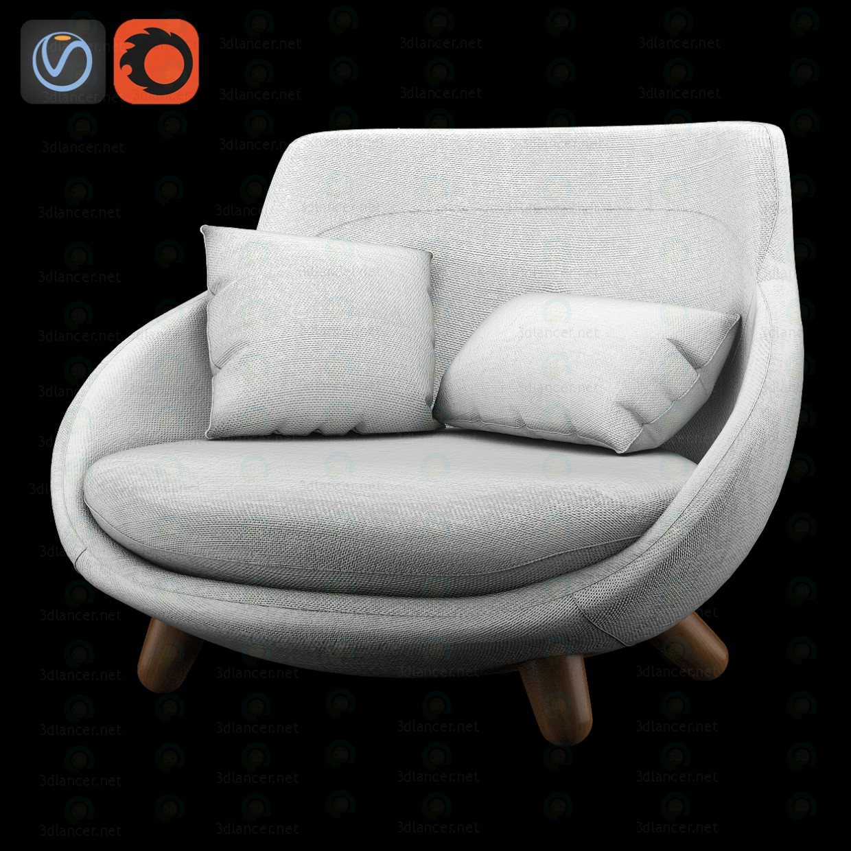 Love Sofa High Back paid 3d model by artistos preview