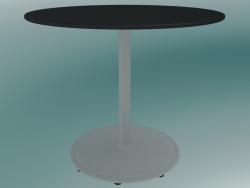 Tavolo BON (9380-51 (⌀ 60cm), H 51cm, HPL nero, ghisa bianco)