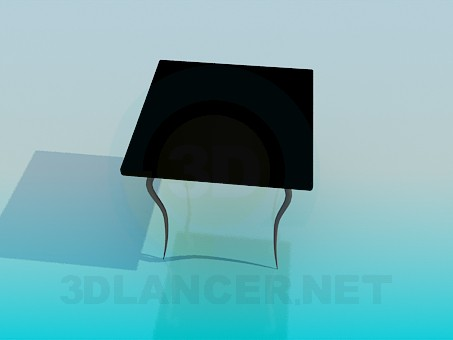 3d модель Стол на тонких волнистых ножках – превью