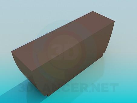 3d модель Широка тумба – превью