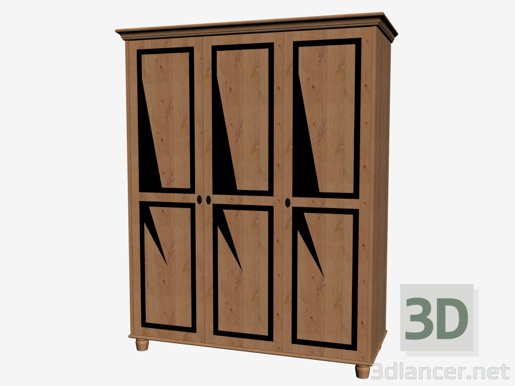 hardware on kitchen cabinets 3d model 3 door manufacturer ikea id 16219 16219