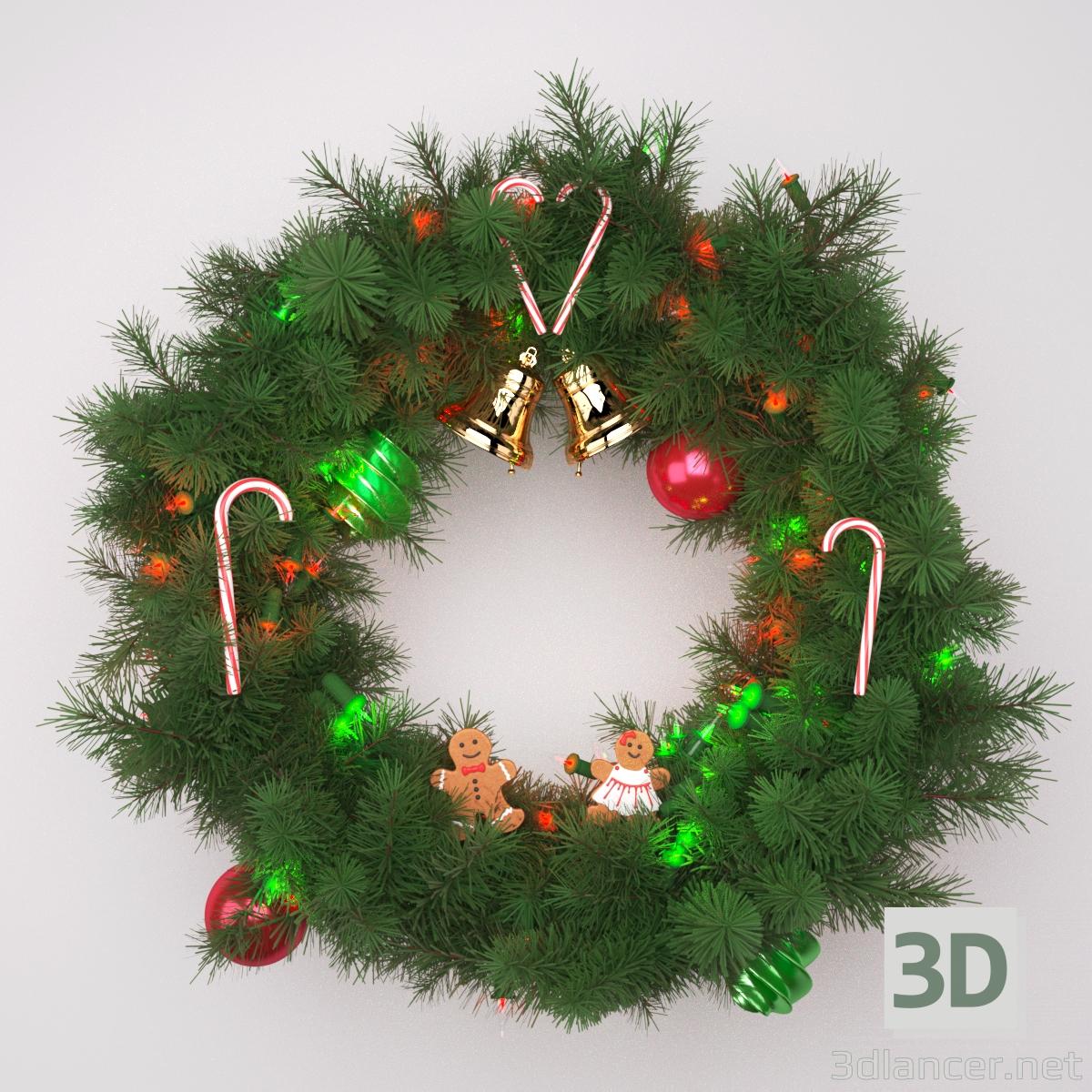 3 डी क्रिसमस पुष्पांजलि मॉडल खरीद - रेंडर