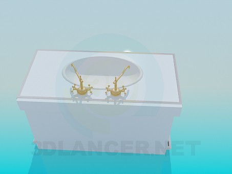 3d modeling Wash-stand with old cranes model free download