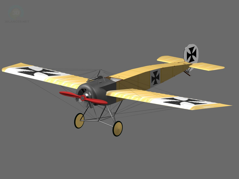 3 डी मॉडल Fokker eindecker विश्व युद्ध 1 लड़ाकू विमान - पूर्वावलोकन