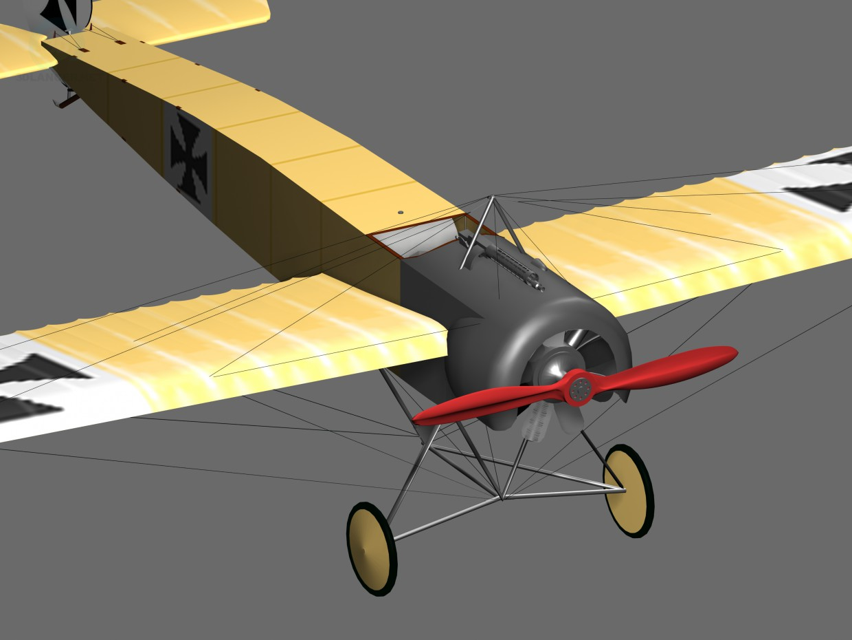 3d model Fokker eindecker world war 1 fighter aircraft - preview
