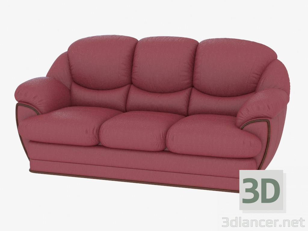 Awesome 3D Model Sofa Modular Triple Leather Mobelzeit Max 2013 Evergreenethics Interior Chair Design Evergreenethicsorg
