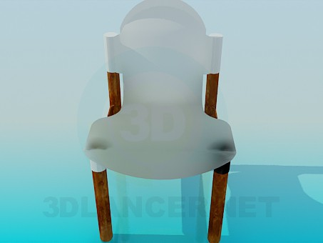 3d modeling Plastic chair model free download