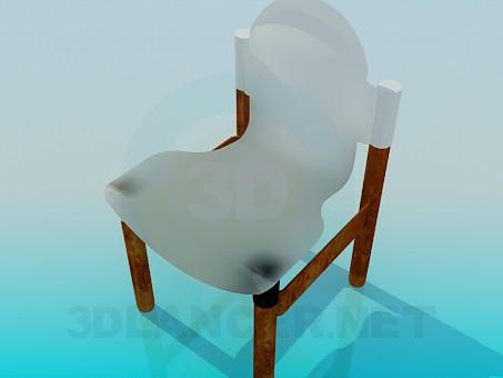3d модель Стул пластиковый – превью