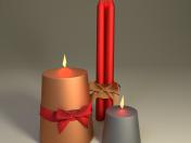 क्रिसमस मोमबत्तियाँ