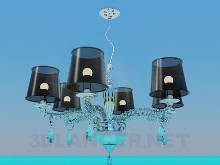 3d model Chandelier for six shades - preview