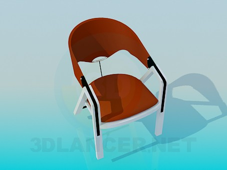 3d modeling Chair on wooden legs model free download