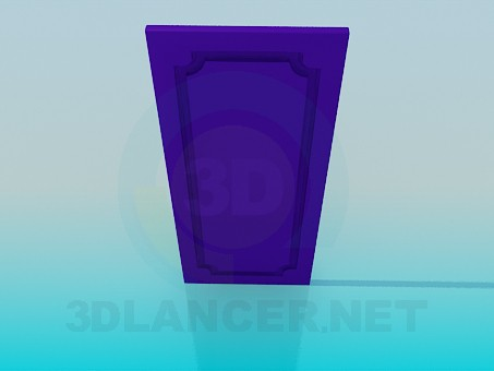 3d modeling Door from the cabinet model free download