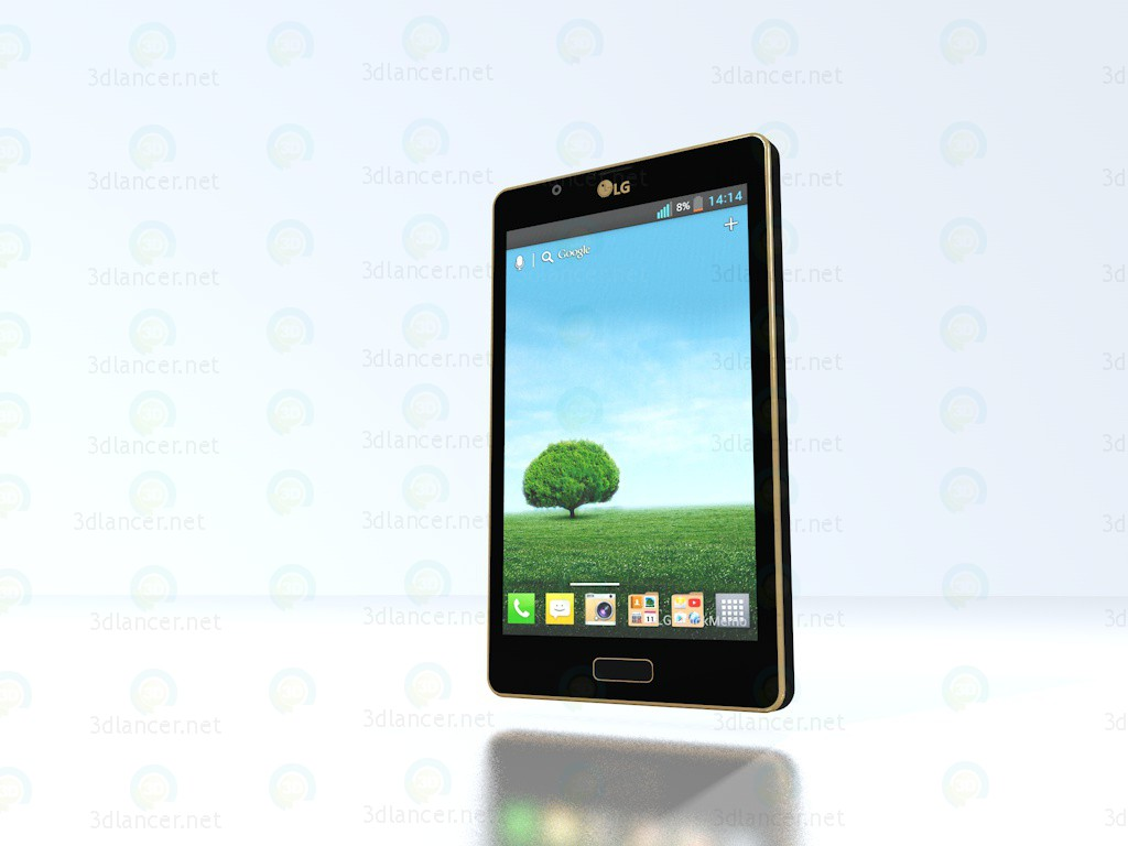 Телефон LG L7 (P705) 3d модель купити - рендер