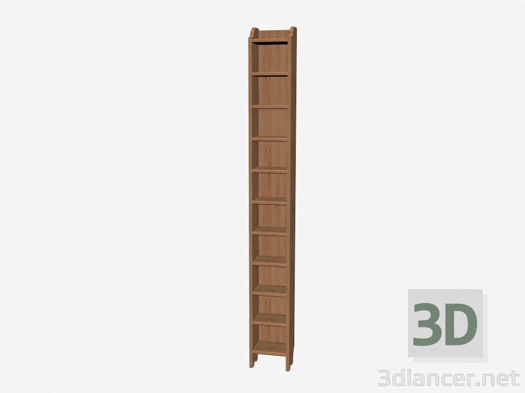 3d Model Narrow Rack Manufacturer Ikea Collection Leksvik