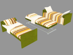 Bed-transformer Duetto (folded and split options)