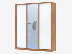 Wardrobe with white panels and a mirror (sh 68)