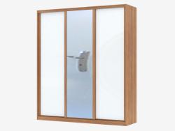 Armoire à panneaux blancs et miroir (sh 68)