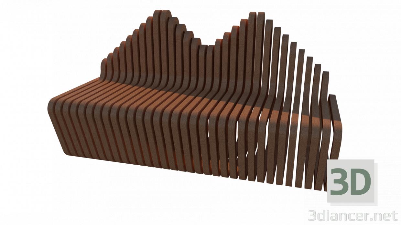3d model Garden sofa - preview