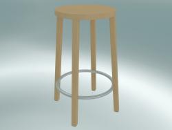 Sgabello BLOCCO sgabello (8500-60 (63 cm), frassino naturale, alluminio sabbiato)