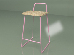 Bar stool (pink)