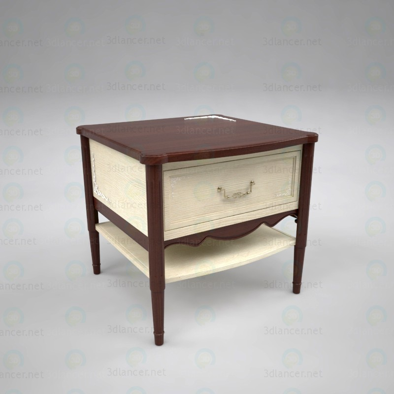 3d Bedside table model buy - render