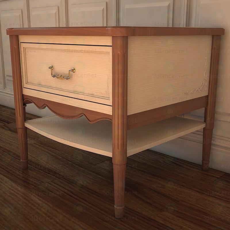 3d Bedside table model buy - render