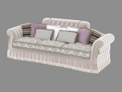 Three-seat sofa in Art Deco style