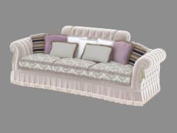 Sofá de três lugares em estilo Art Deco