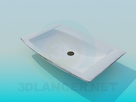 3d modeling The rectangular sink model free download