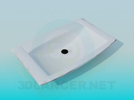 modelo 3D Fregadero rectangular - escuchar