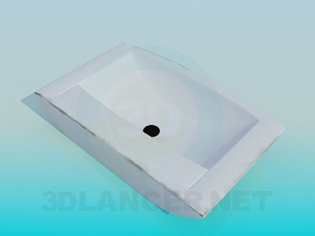 3d model The rectangular sink - preview