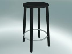 Sgabello sgabello BLOCCO (8500-60 (63 cm), laccato tinto nero cenere, alluminio sabbiato)